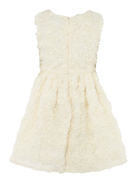 Little Dickins & Jones Girls Textured rose dress