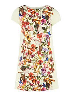 Girls Floral print A line dress