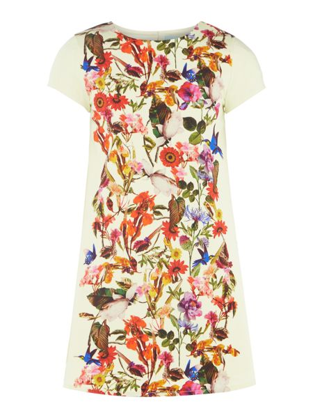 Little Dickins & Jones Girls Floral print A line dress