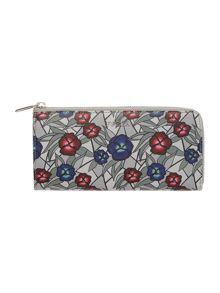 Babylon multi-coloured large half ziparound purse