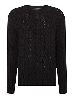 Crew-Neck Cable-Knit Jumper