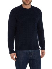 Original Penguin Crew-Neck Cable-Knit Jumper