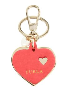 Venus multi-coloured heart key ring