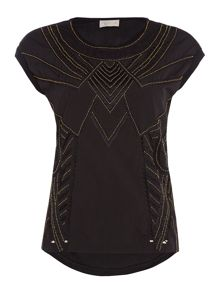 Label Lab Embellished tribal top