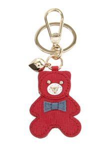 Furla Arianna red teddy key ring