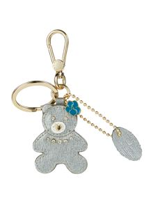 Furla Arianna silver teddy key ring