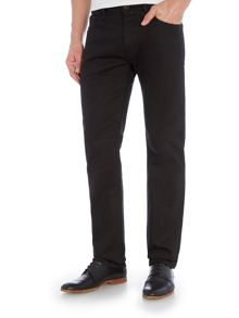 Armani Jeans J45 Tapered Slim Fit Black Jeans