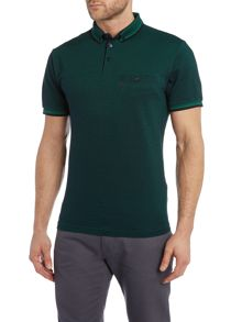 Original Penguin Birdseye falcon polo with pocket detail