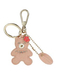 Furla Arianna light pink teddy key ring