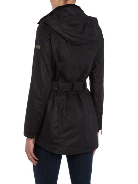 Barbour International Hairpin hooded wax jacket