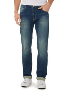 Armani Jeans J45 Tapered Slim Fit Mid Wash Jeans