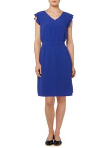 Dickins & Jones Frill Sleeve Crepe Dress
