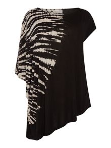 Label Lab Plus Size Rib Cage Tie Dye Asymmetric Tee