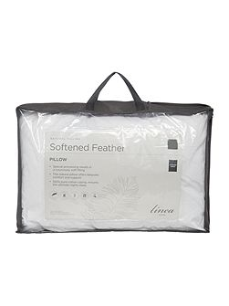 Softened feather pillow