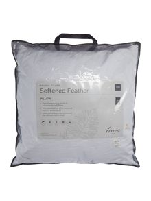 Linea Softened feather square pillow