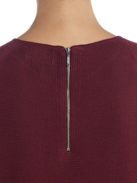 Barbour International Fandor textured knit jumper