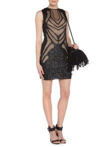 Label Lab Pu sequin bodycon dress