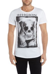 Regular fit tattoo skull print t shirt