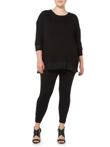 Label Lab Plus size knit and chiffon layered top