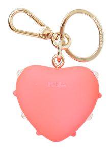 Furla Primavera pink heart key ring