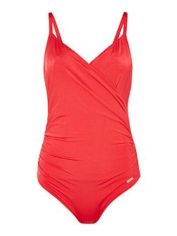 Los cabos underwired wrap swimsuit