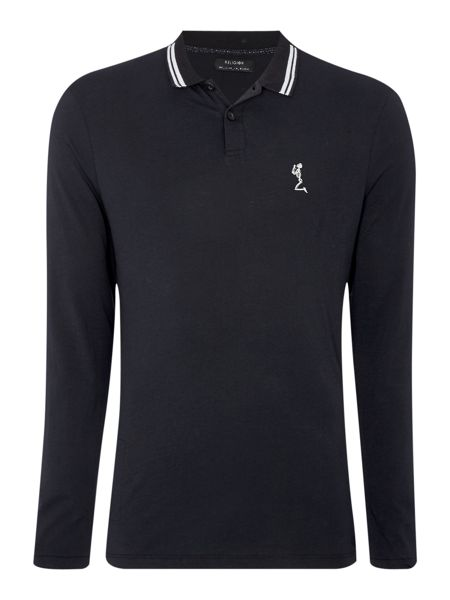 Religion Regular fit long tipped polo shirt