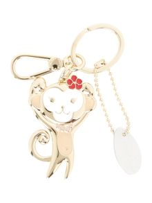 Furla Fortuna light pink monkey key ring