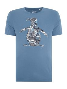 Original Penguin Jungle pete printed tee