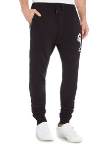 Religion Tapered leg large skeleton logo tracksuit bottoms