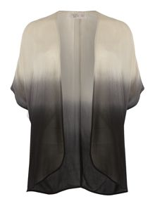 Label Lab Plus size dip dye box pleat kimono