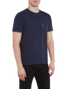 Original Penguin Birdseye woven back buggy neck tee