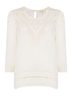 Arizona cutwork top