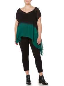 Label Lab Plus size dip dye asymmetric blouse