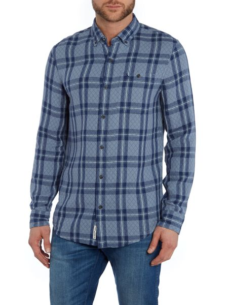 Original Penguin Long sleeve quilted doublecloth plaid shirt