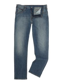 Armani Jeans J45 Tapered Slim Fit Light Wash Jeans