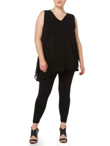 Label Lab Plus size layered sleeveless blouse