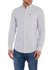 Original Penguin Long sleeve brushed striped oxford shirt