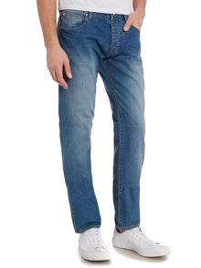 Armani Jeans J28 Slim Fit Light-Mid Wash Jeans