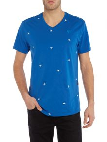 G-Star Asterisk regular fit v neck bird print t shirt