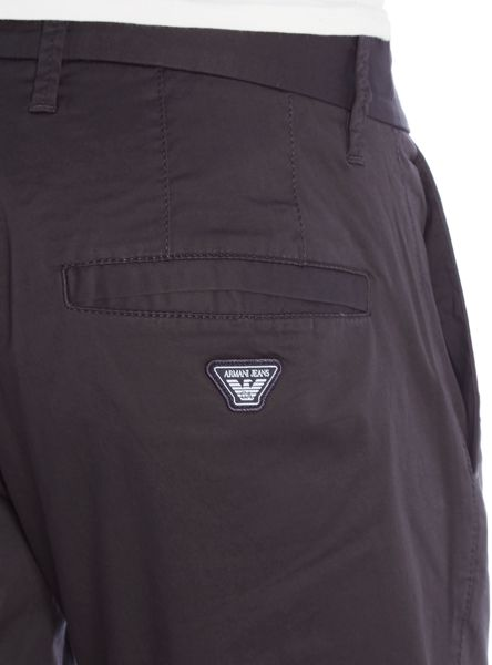 Armani Jeans Slim Fit Badge Logo Stretch Chino