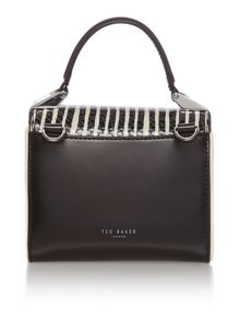 Ted Baker Pietra black leather mini crossbody bag