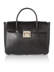 Furla Metropolis black satchel bag