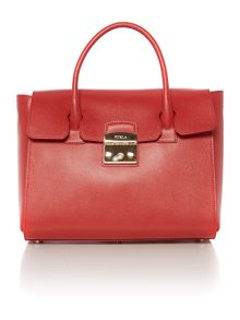 Furla Metropolis red satchel bag