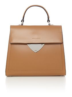 Linea b14 design tan medium satchel bag