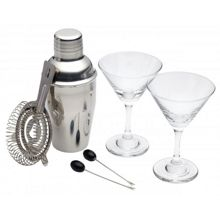 Luxe Lounge 6 Piece Mini Martini Set
