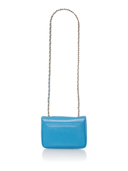 Coccinelle Lorelle blue small crossbody bag