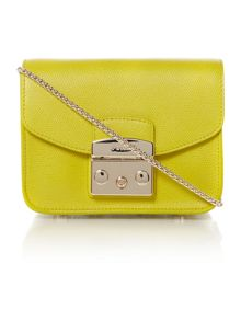Furla Metropolis yellow cross body bag