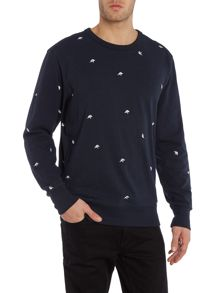 G-Star Asteriks crew neck embroidered bird sweatshirt