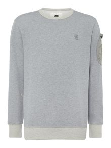 Kendo crew neck arm pocket sweatshirt