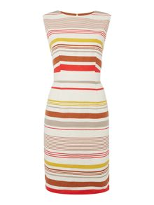Linea Sophia linen stripe dress